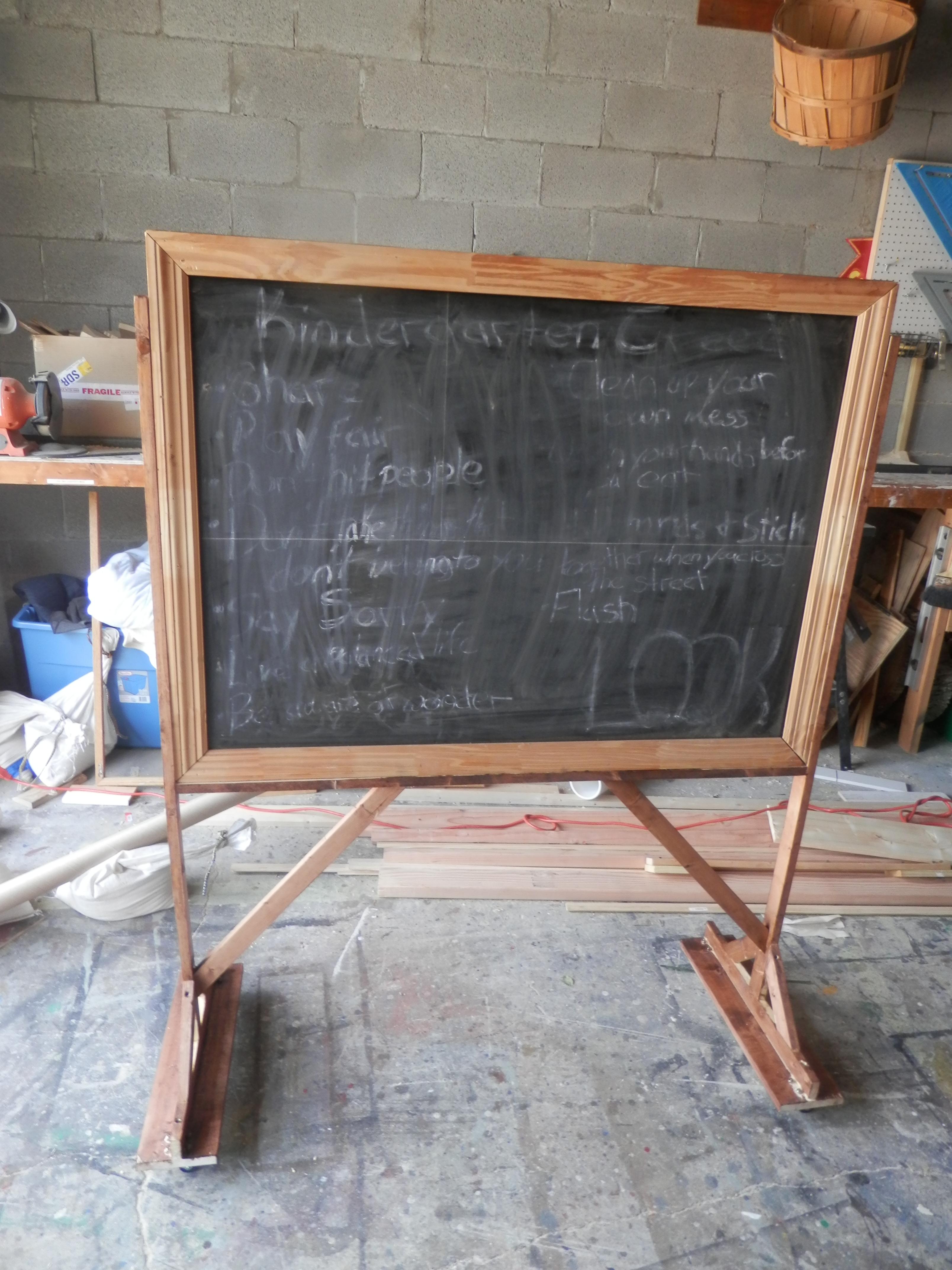 Chalkboard on Wheels