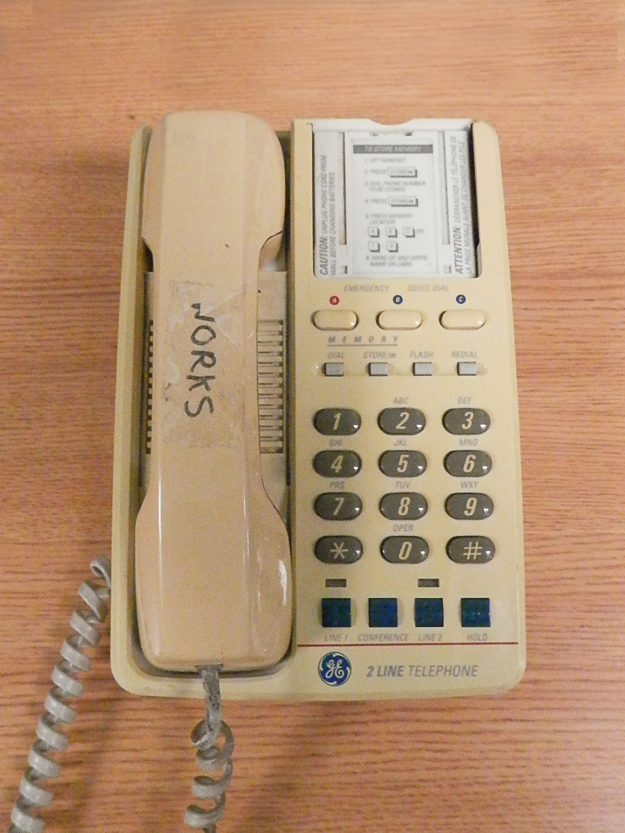 Corded Phone 2line GE beige