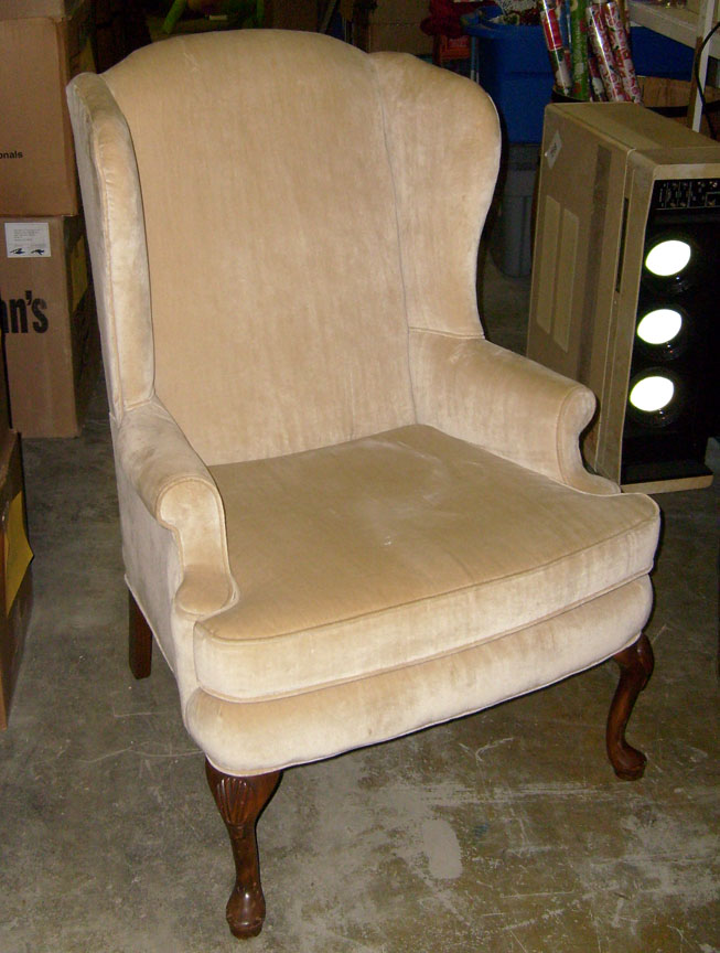 Ivory Formal Living Room Chair