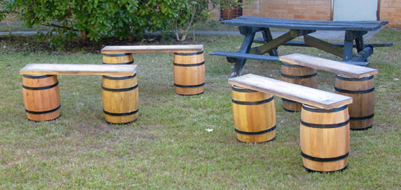 Keg Barrel Benches