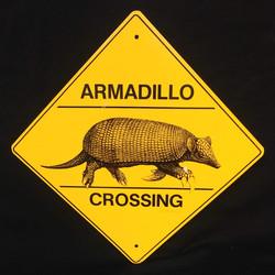 Sign - Armadillo Xing