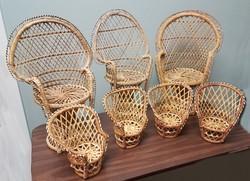 Mini Wicker Peacock Chairs