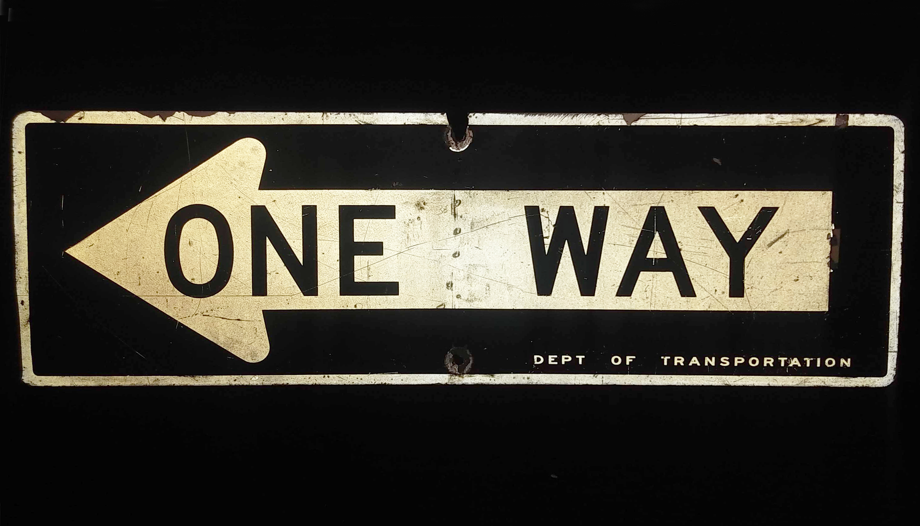 Sign - One Way