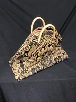 Vintage Carry On floral pattern