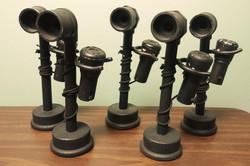 Wood Candlestick Phones