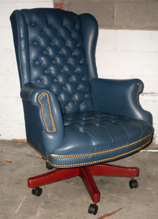 Blue Executive Chair - leather