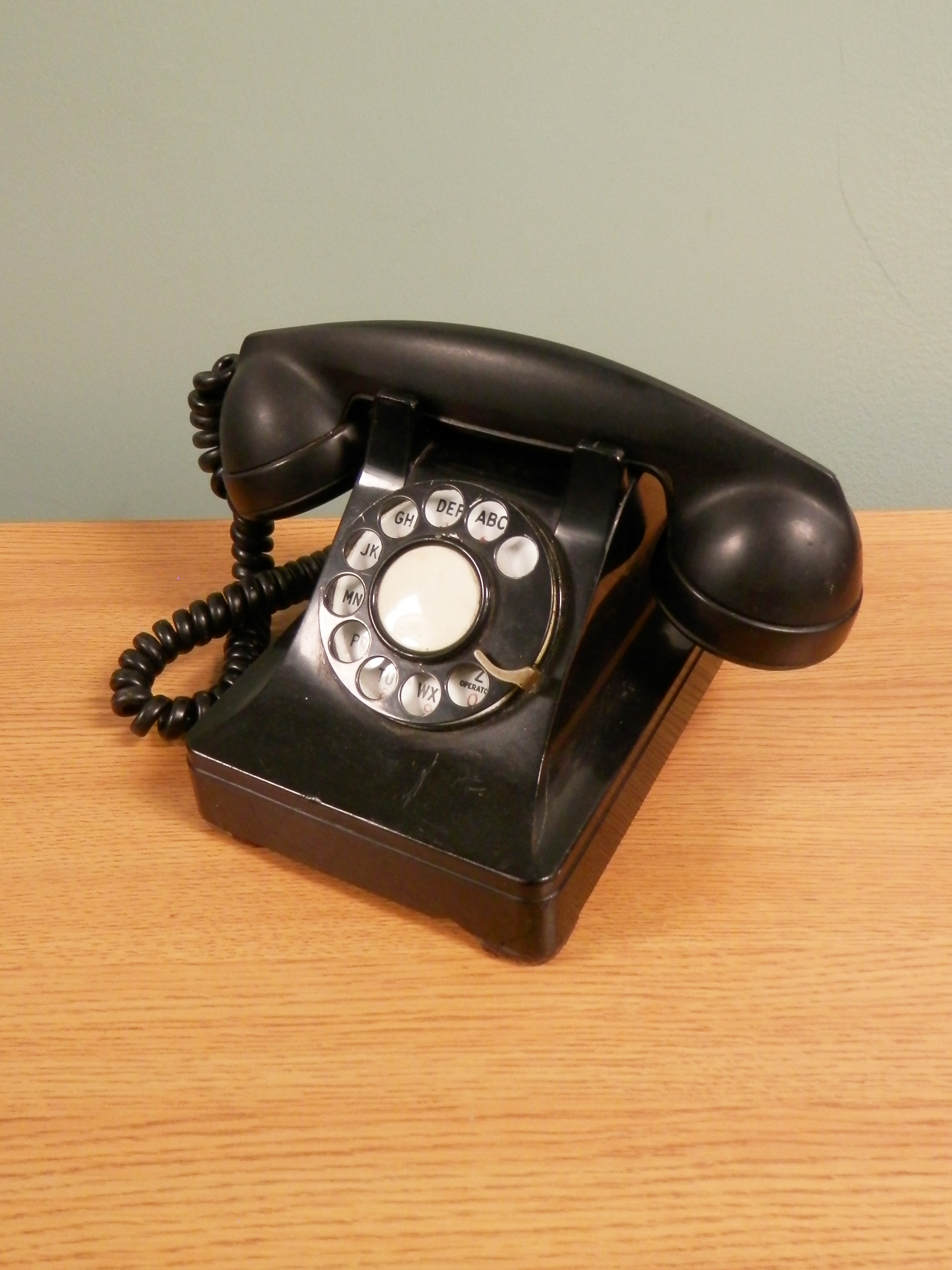 Rotary Telephones black