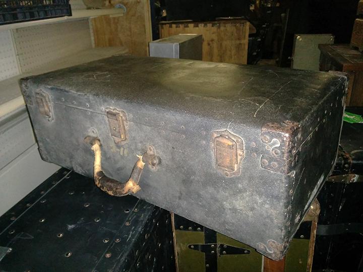 Grey Metal Trunk
