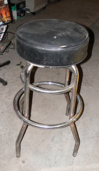 Black Stools with Chrome Legs