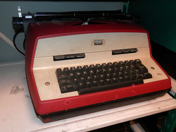 IBM Selectric red and white