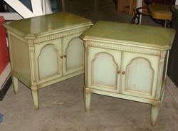 Antique Green End Tables