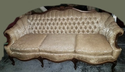 Sofa Camelback Victorian embroidered