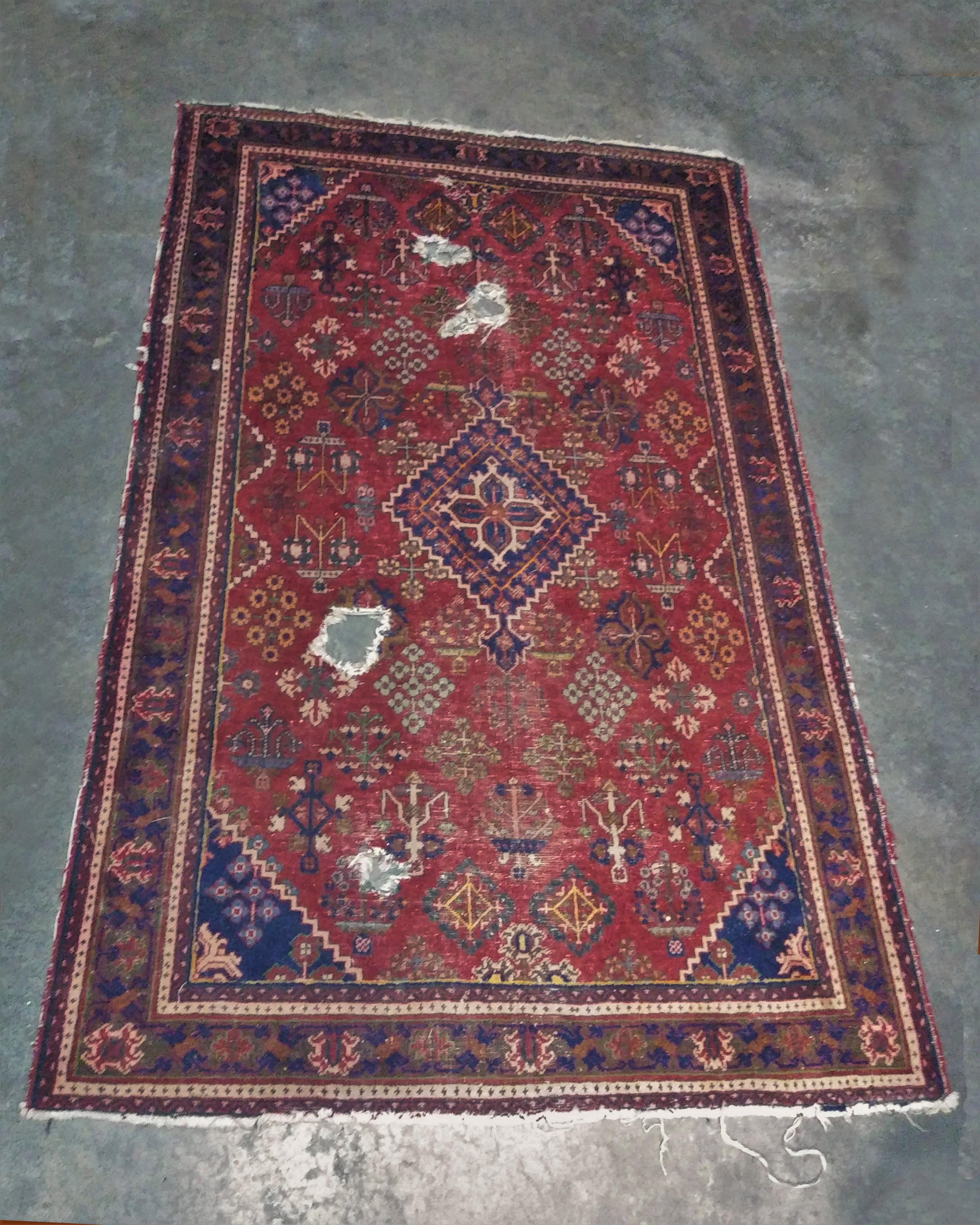 Theadbare Oriental Rug - small