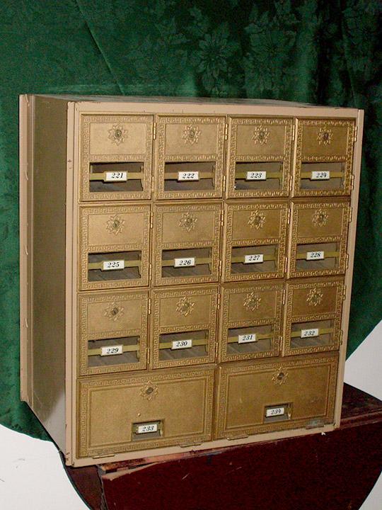 Brass Mail Box Units