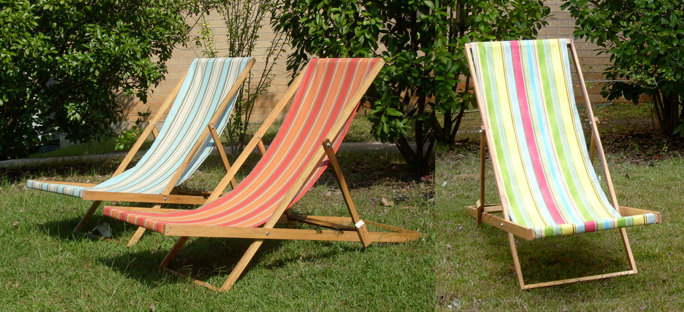 Beach Lounge Chairs - wood frame