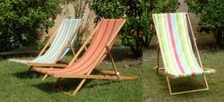 Beach Lounge Chairs - wood frame