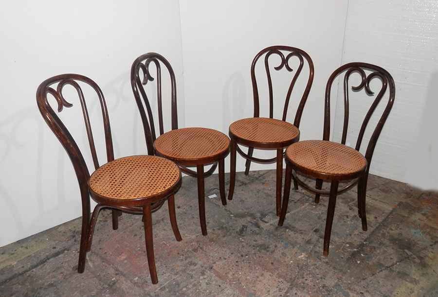 Bent Wood with Cane Seat Chairs