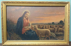 Framed Painting - Jesus and Lamb
