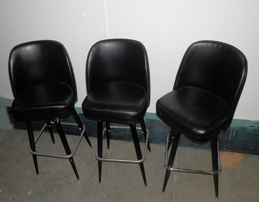 Hi Boy Stools Black Vinyl Chairs 11qty