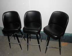 Hi Boy Stools Black Vinyl Chairs 11qty