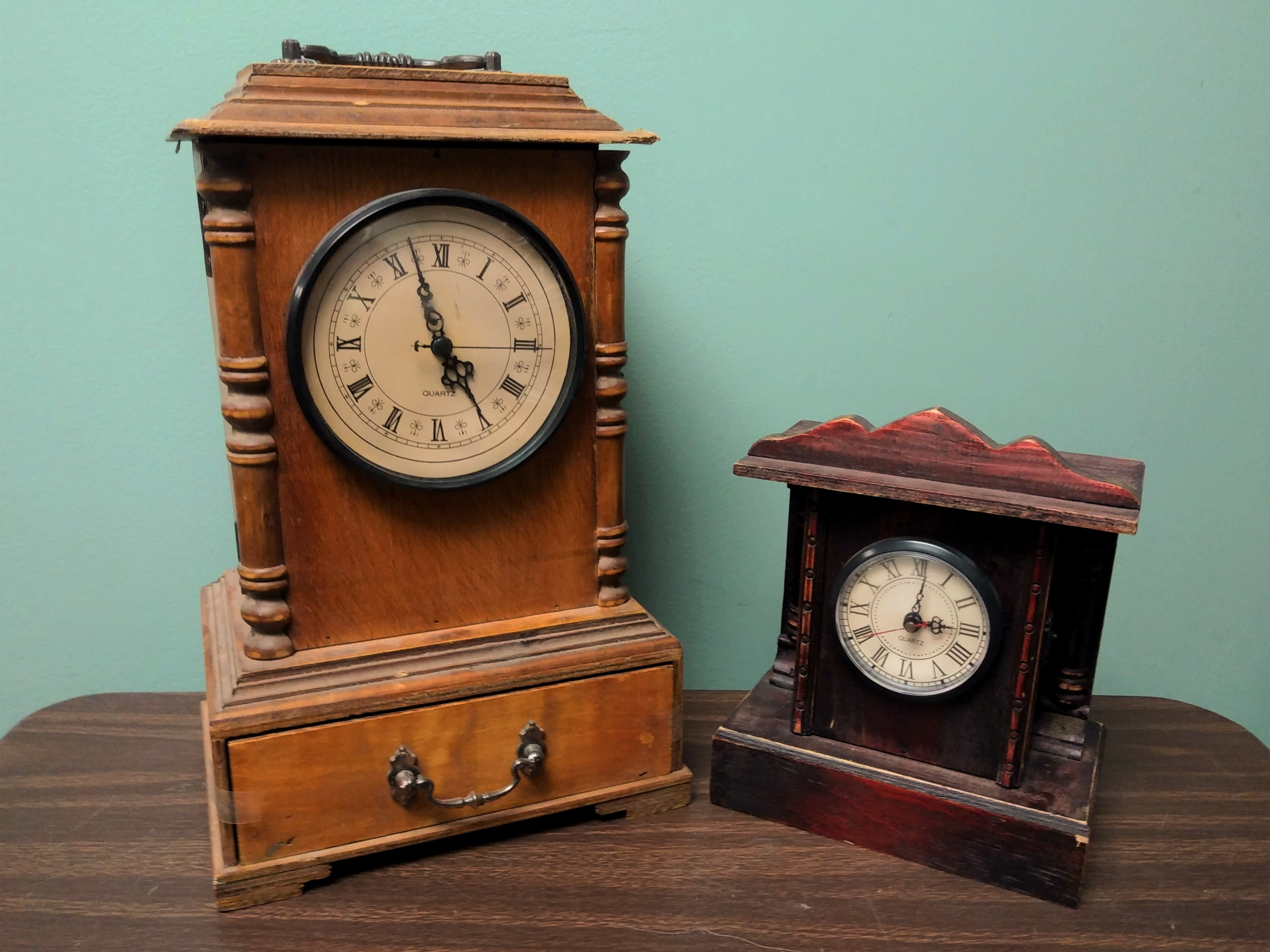 Wood Mantel Clocks