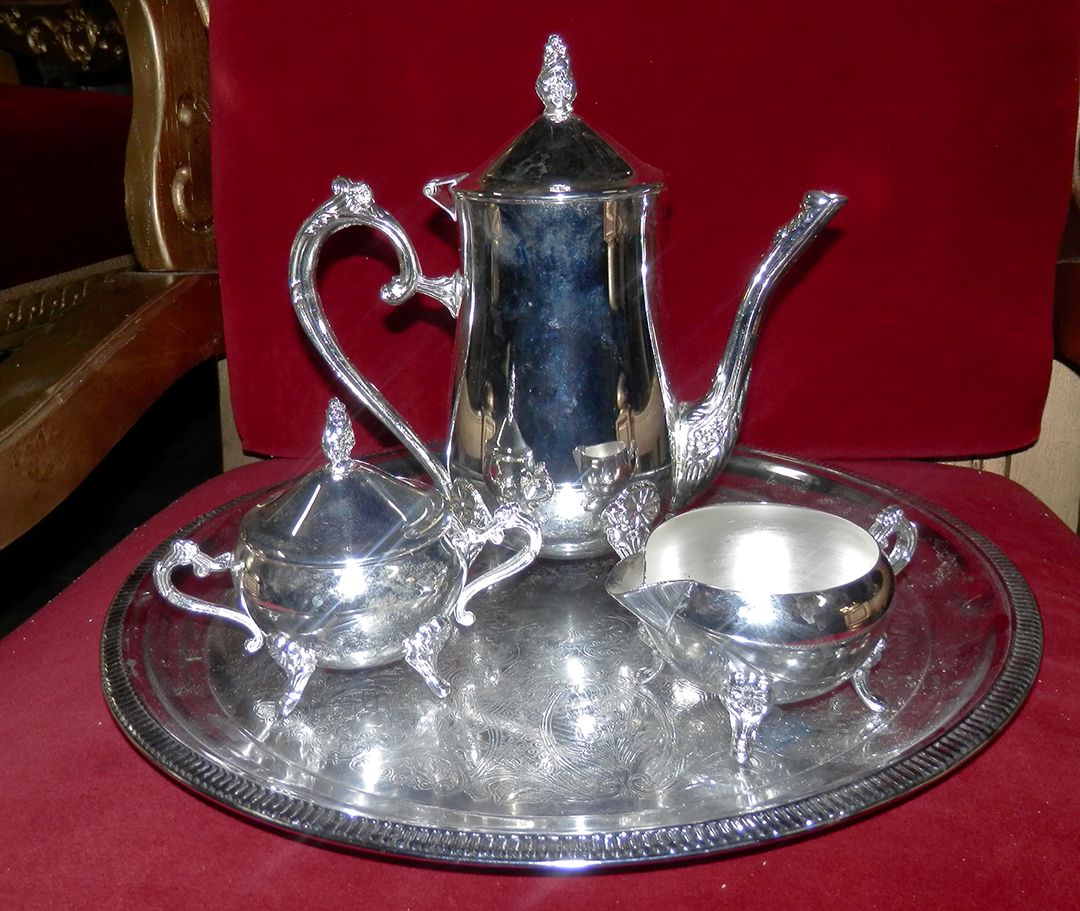 Silver Coffee Tea Set - 4 pc