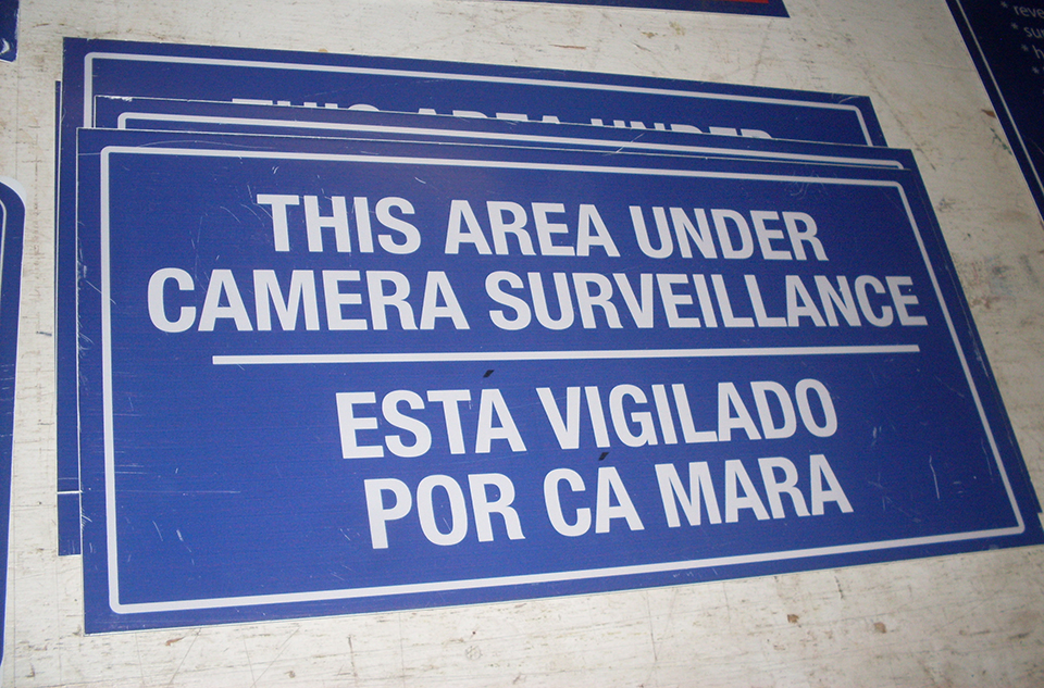 This Area Under Camera Surveillance