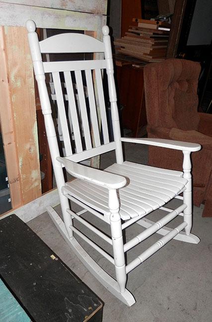 White Rocking Chair Pair