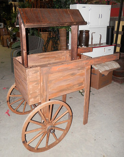 Wood Cart with roof