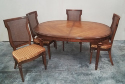 Dining Table Traditional Wood with set o