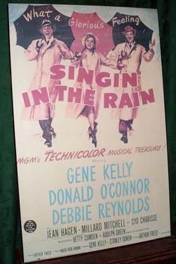 Singin In The Rain placard