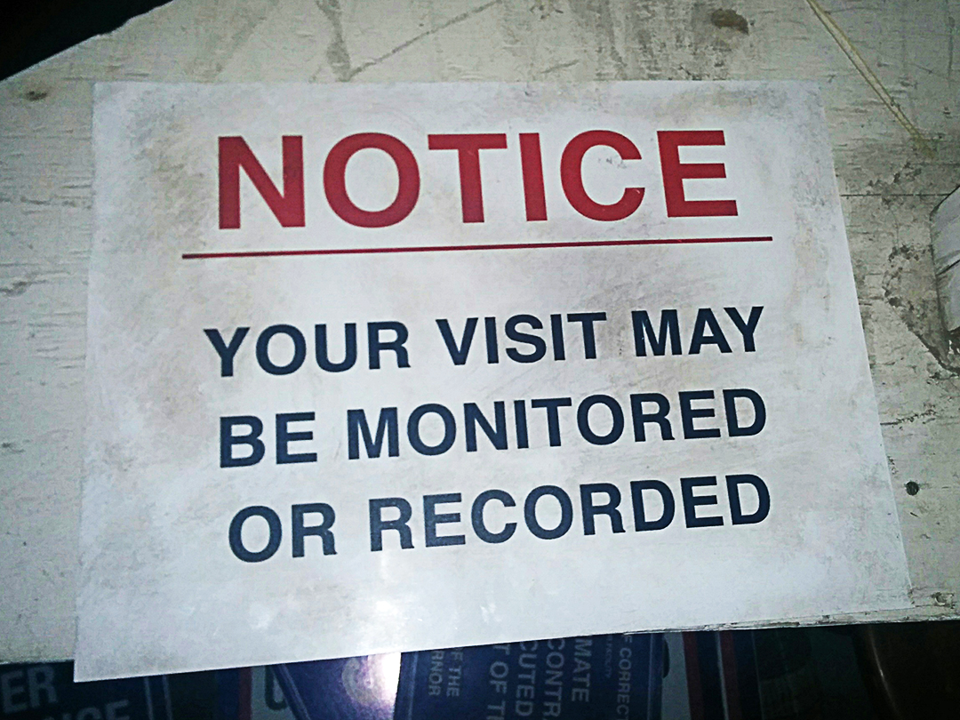 Your Visit May Be Monitored