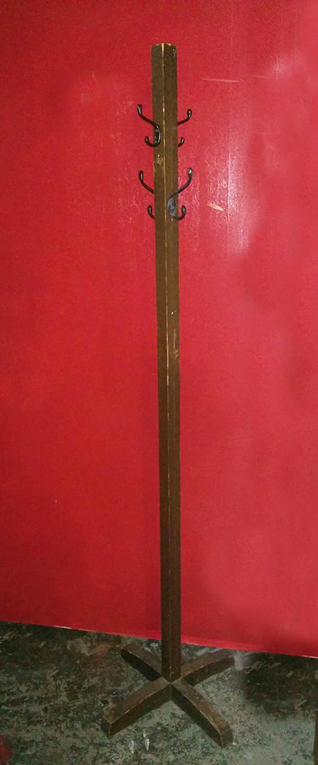 Coat Rack wood black hooks