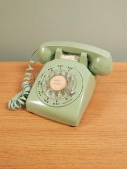 Rotary Telephone seafoam
