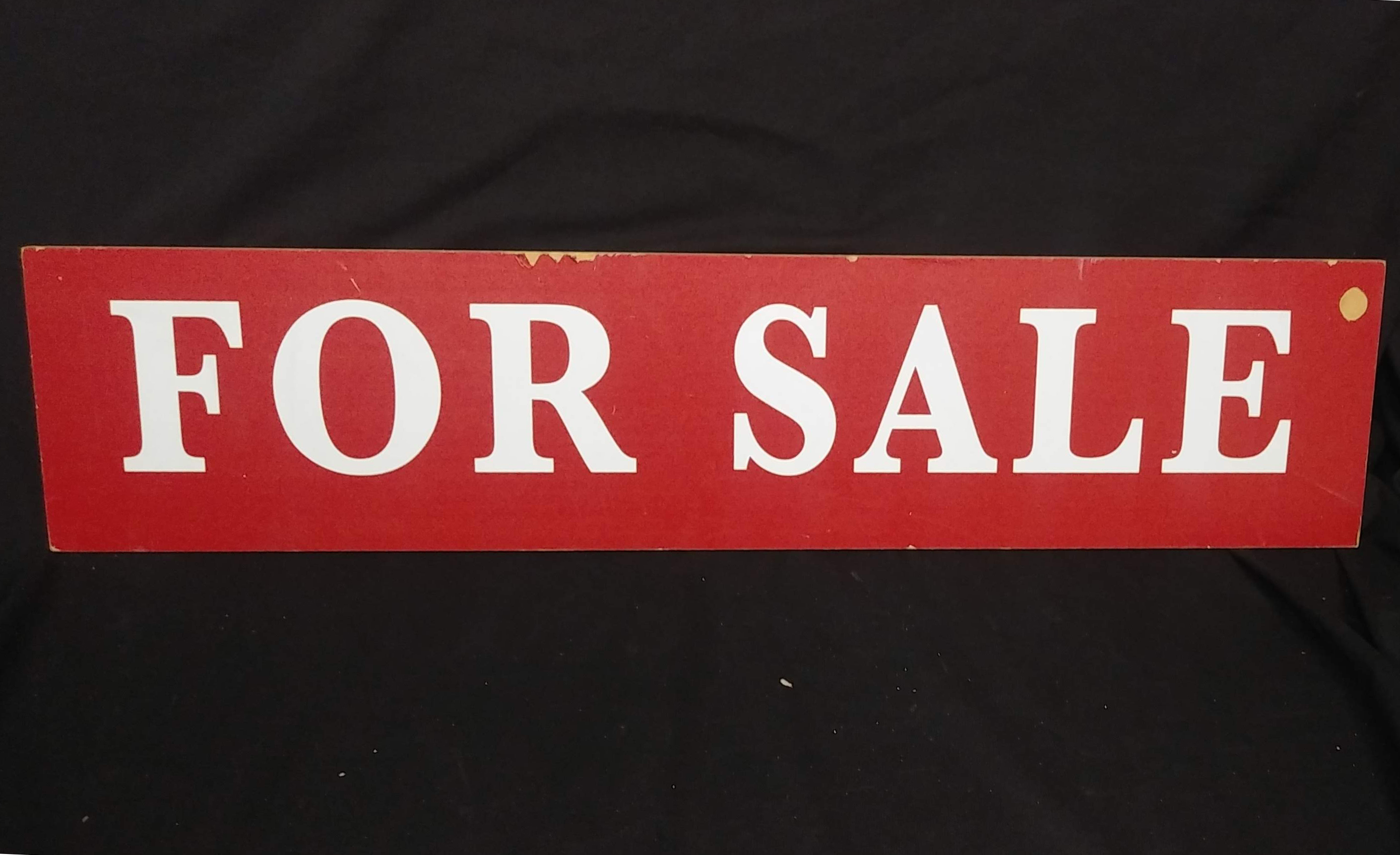 Sign - For Sale red 30x7