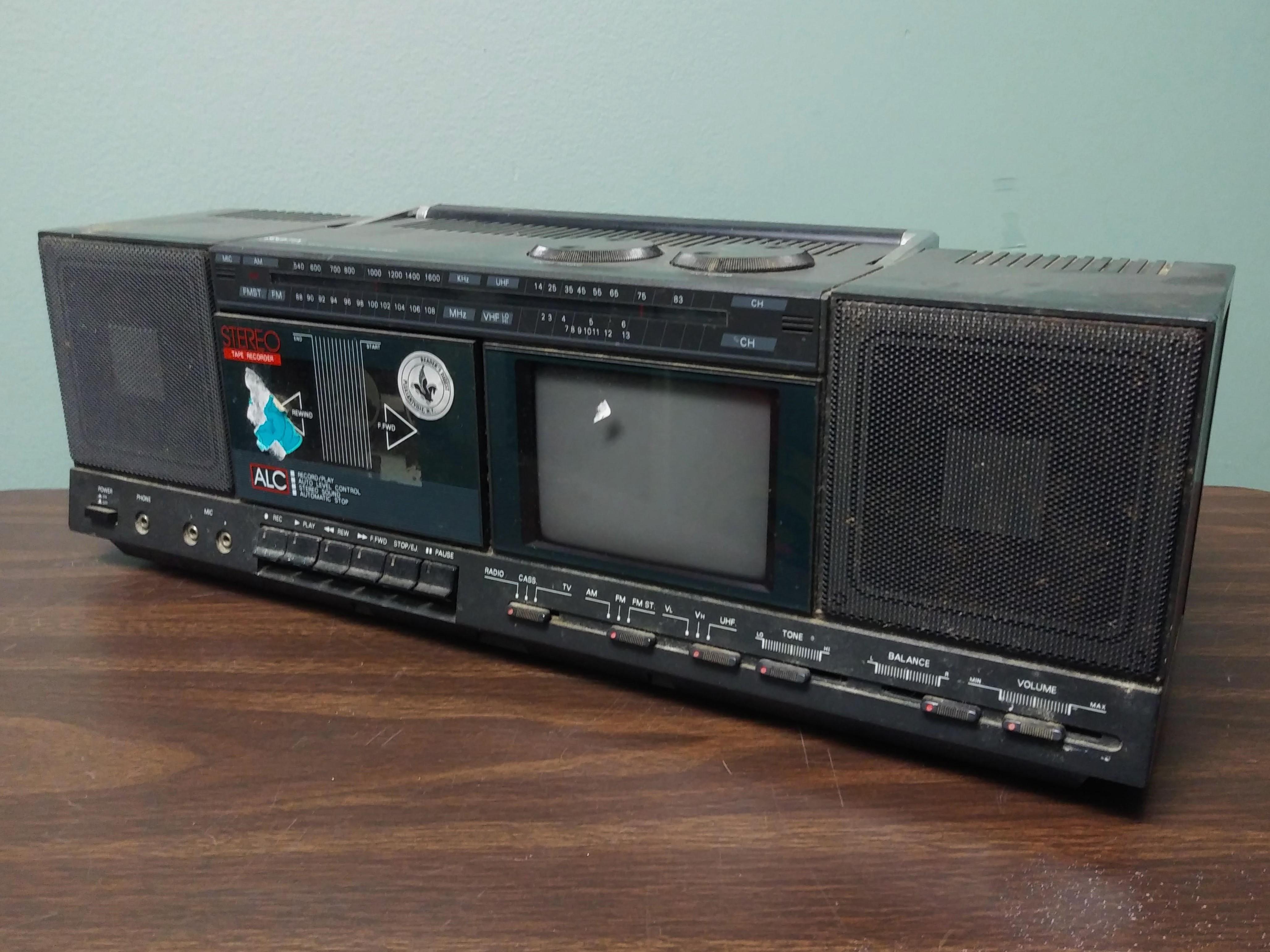 GPX AM FM Radio with TV