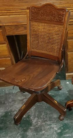 Wood Swivel Chair