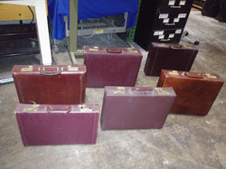 Briefcases hardcase browns reds