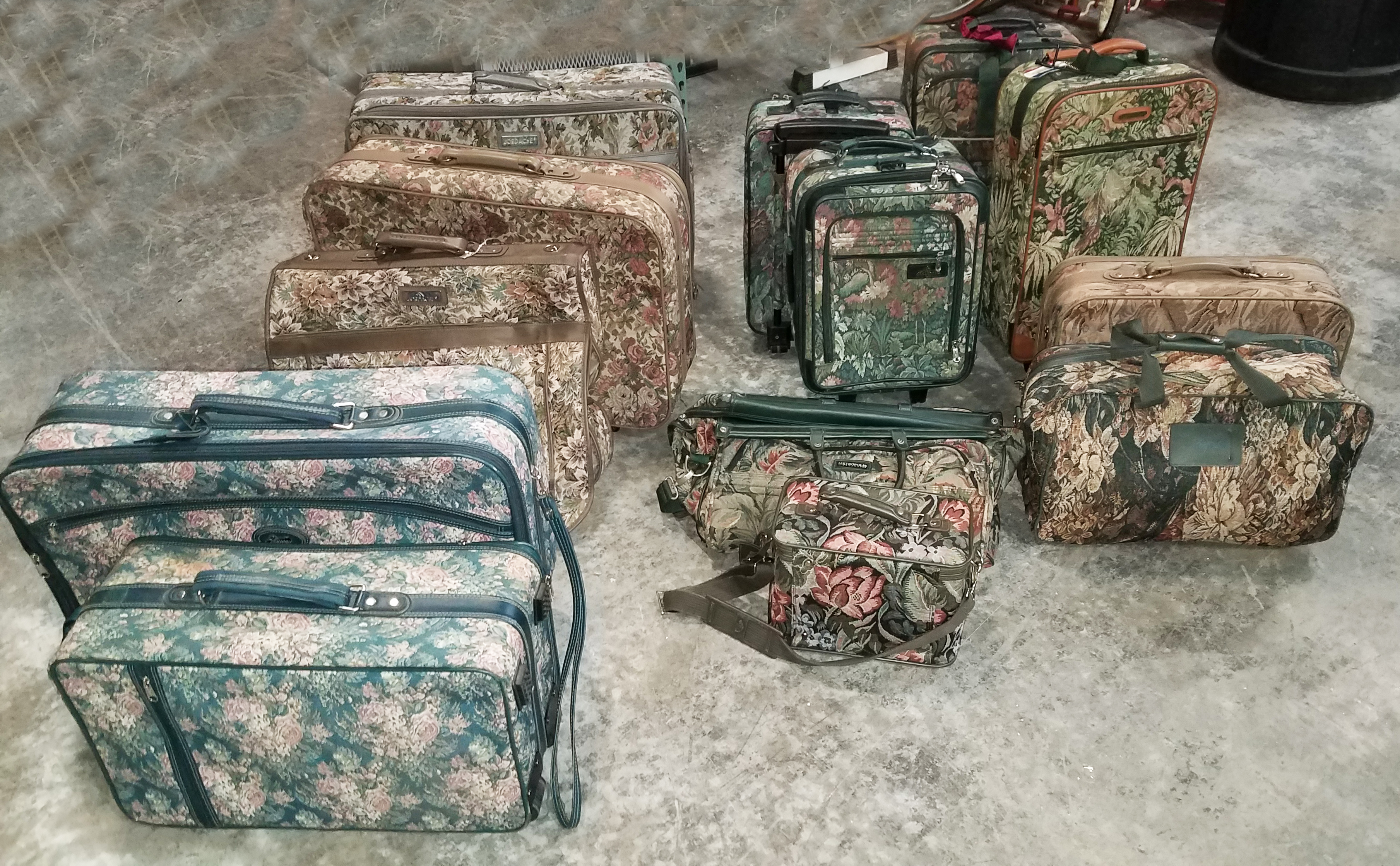 Luggage Floral Print Sets Nov 2018 14pcs