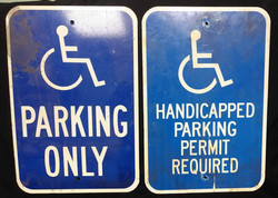 Sign - Handicapped Parking 12x18 - qty 3