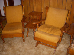 70s Maple Yellow Chair set