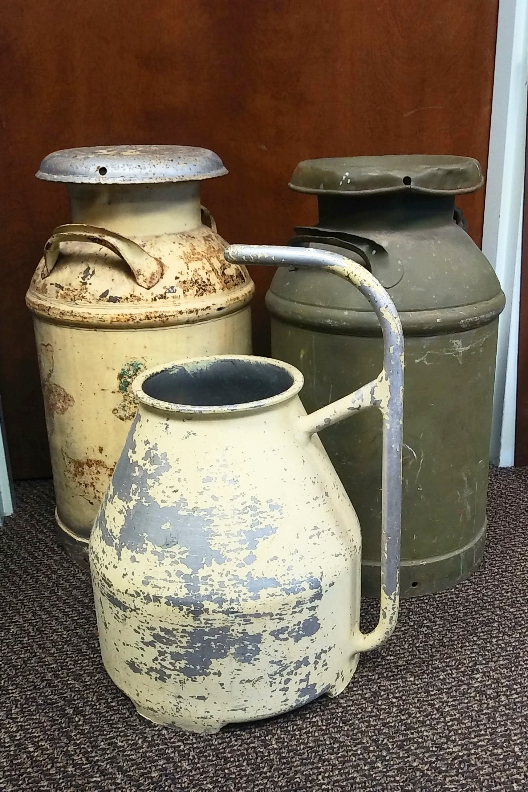 Metal Milk Cans and Pail