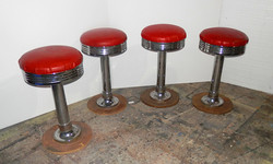 Red Diner Stools