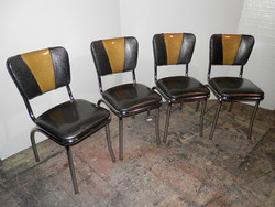 Diner Chairs - Yellow and Gray