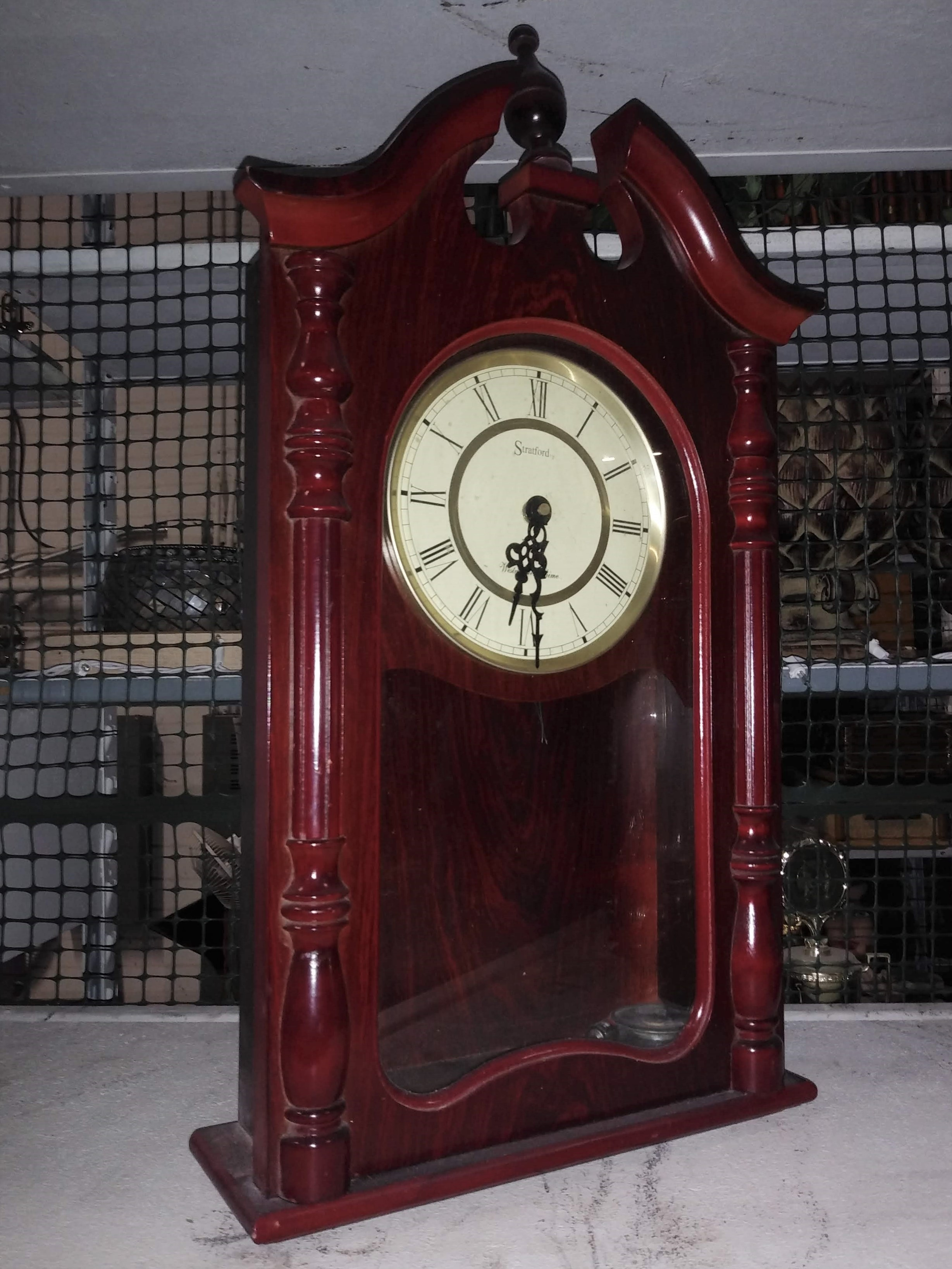 Tall Wood Mantel Clock