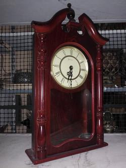 Tall Wood Mantel Clock