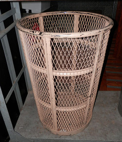 Trash Can - Wire Mesh painted dirty brow