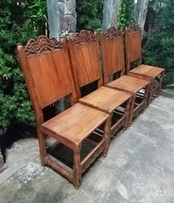 Medieval Wood Chairs