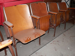Theatre Seats set of 3 or set of 4 wood.