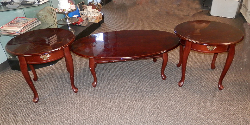 Queen Anne Coffee Table and End Tables set